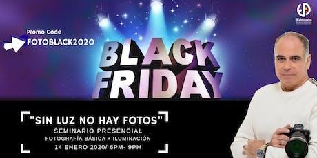 """""""Sin luz no hay foto"""": Fotografía básica + iluminación tickets"""
