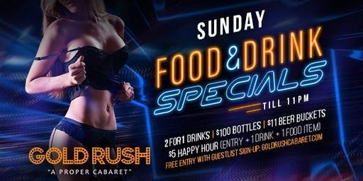 Gold Rush Sundays at Gold Rush Cabaret Guestlist - 1/05/2020