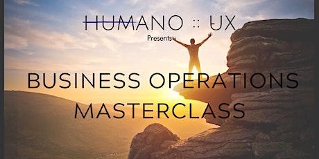 HUMANO :: UX Business Operations Masterclass tickets