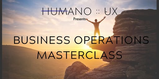 HUMANO :: UX Business Operations Masterclass