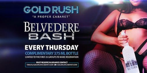 Belvedere Bash at Gold Rush Cabaret Guestlist - 1/16/2020