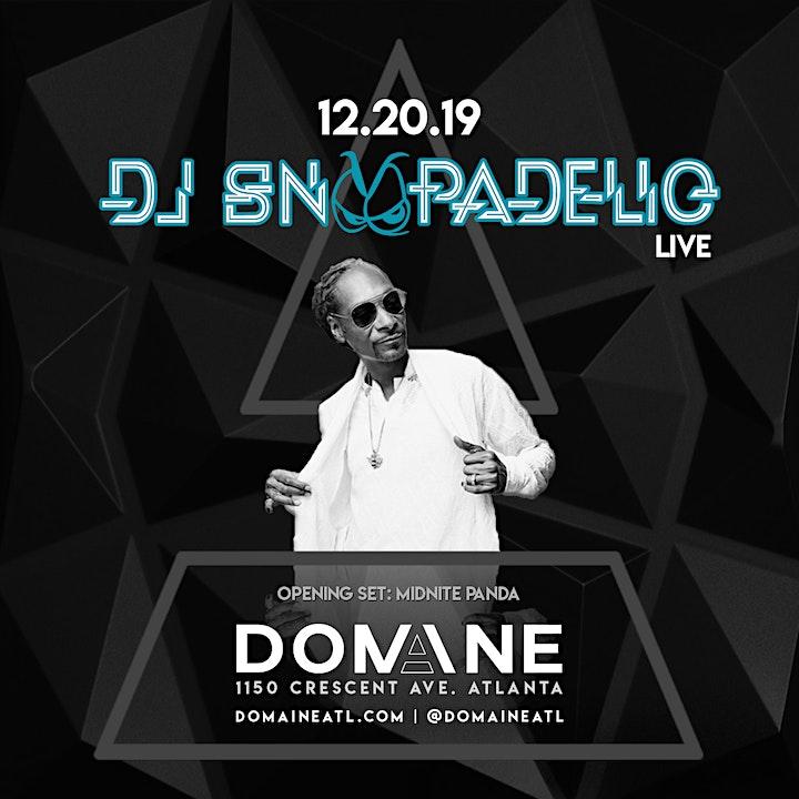 Domaine Fridays with DJ SNOOPADELIC on Friday 12.20.19 image
