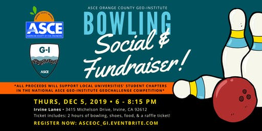 ASCE OC Geo-Institute - Bowling Social and Fundraiser