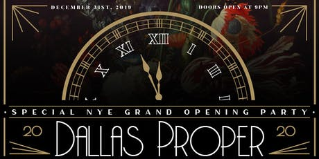 NYE Grand Opening: A Proper End to 2019 tickets