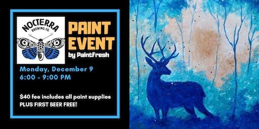 Night Deer Paint Event