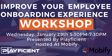 Create An Engaging Employee Onboarding Experience: A Playficient Workshop tickets