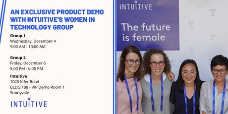 An Exclusive Product Demo with Intuitive's Women in Technology Group tickets
