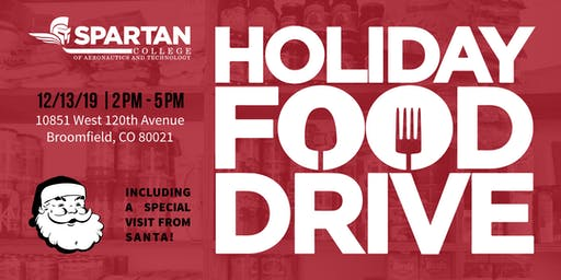 Holiday Food Drive - Spartan College Denver