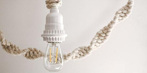Let's make a Knotted Rope Light with vintage Edison light bulb!