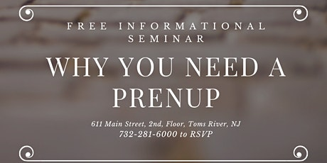 Why you should have a prenup! tickets