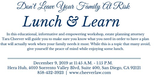 Lunch & Learn: Estate Planning