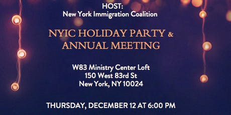 2019 NYIC Holiday Party & Annual Meeting tickets