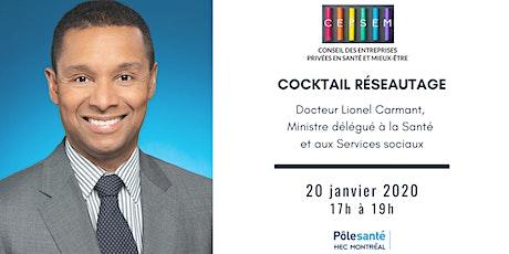 Cocktail réseautage avec Dr Lionel Carmant billets