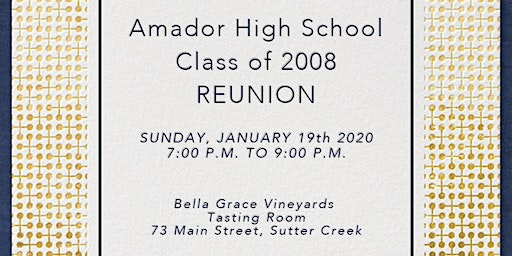 Amador High School Class of 2008 reunion