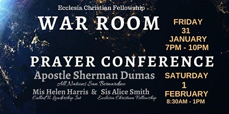 WAR ROOM 1/31 - Prayer Conference 2/1 hosted by ECF tickets