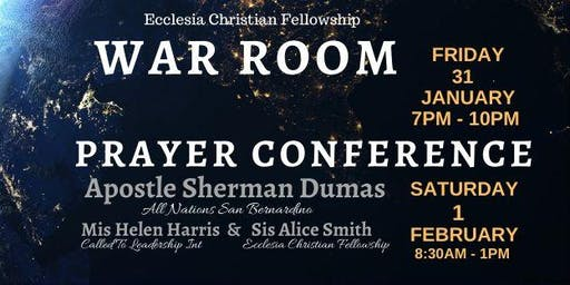 WAR ROOM 1/31 - Prayer Conference 2/1 hosted by ECF