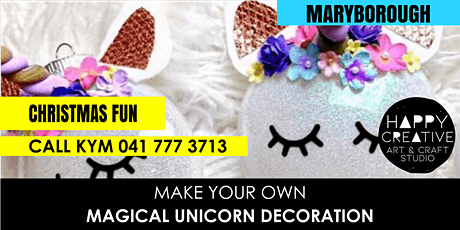 Unicorn Christmas Decorations tickets