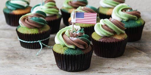 Wheaton Girl Scouts host Cupcakes and Cans for Vets!
