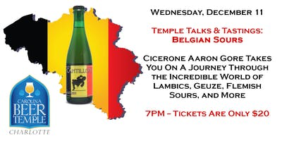 Temple Talks and Tastings: Belgian Sours