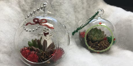 Succulents & Sips:  Holiday Ornament Craft Party tickets