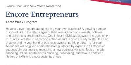 Baby Boomer Business Start Program