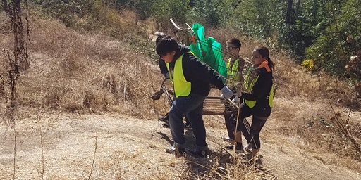 Coyote Creek Cleanup at the Tully Ballfields