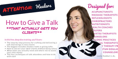 How to Give a Talk that Actually Gets You Clients [On Demand - Online] NYC tickets