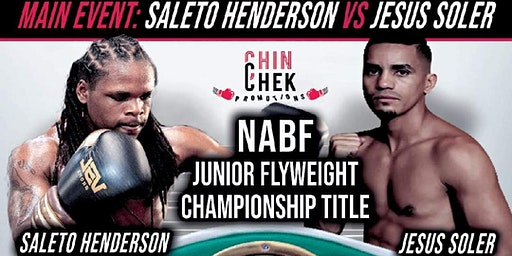 "Chin Chek Promotions Presents ""Season's Beatings"" featuring Undefeated Flyweight Saleto ""Mr. Personal"" Henderson"
