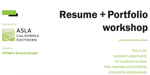 Resume and Portfolio Workshop Review