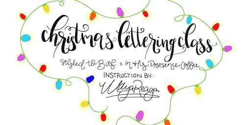 Christmas Chalkboard Lettering Workshop!