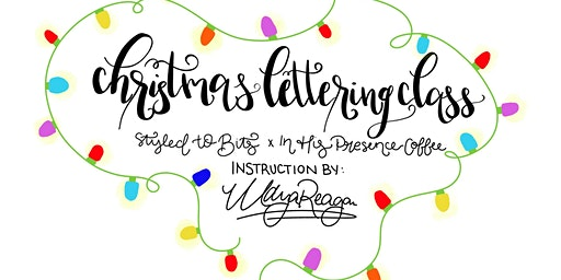 Christmas Chalkboard Lettering Workshop!