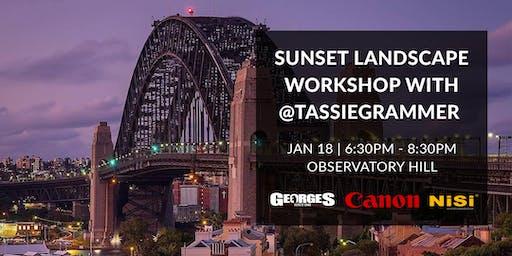 Sunset Landscape Workshop with @Tassiegrammer
