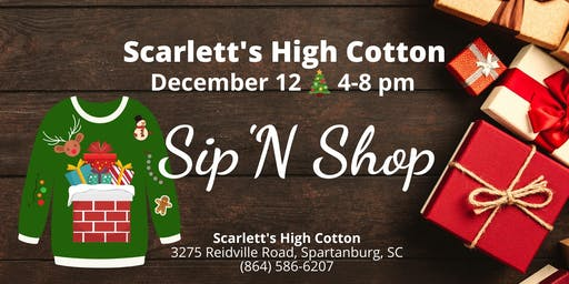 Scarlett's Ugly Sweater Sip 'N Shop