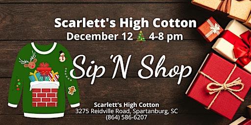 Scarlett's Ugly Sweater Sip 'N Shop
