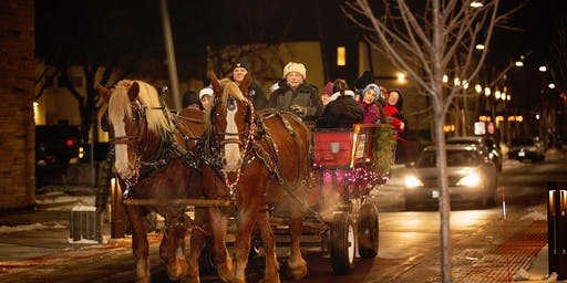 Hopkins Elks Horse-Drawn Wagon Rides, Friday December 13th from 5:30 - 7:30