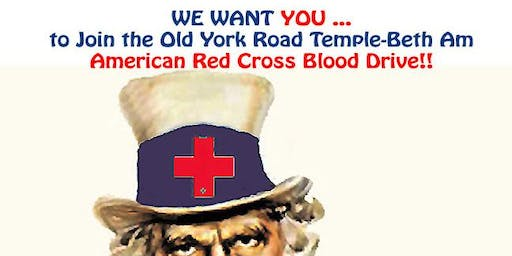 Join The Old York Road Temple-Beth Am American Red Cross Blood Drive!!