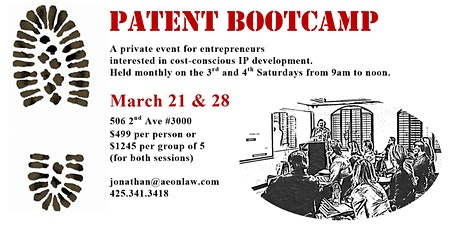 March Seattle Patent Bootcamp™ tickets
