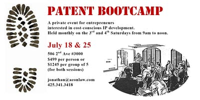 July Seattle Patent Bootcamp