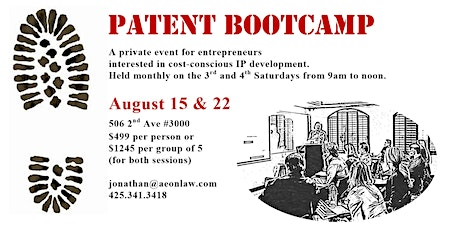 August Seattle Patent Bootcamp™ tickets