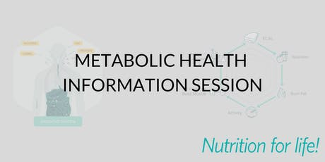 Metabolic Health and Weight Management - Nutrition for Life tickets