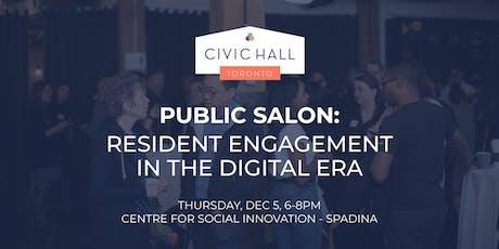 Public Salon: Resident Engagement in the Digital Era tickets
