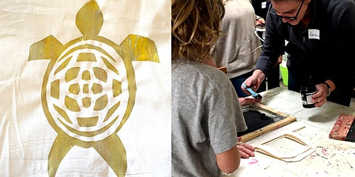 All Ages ScreenPrinting Workshop - Design and Print Your Own Turtle Bags