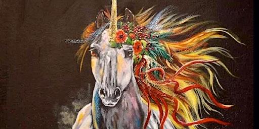 Christmas Unicorn Sip & Paint
