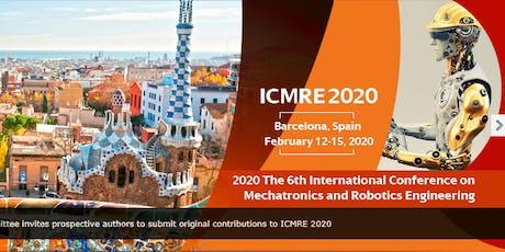 6th Intl. Conf. on Mechatronics & Robotics Engineering (ICMRE 2020) tickets