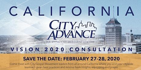 California City Advance Vision 2020 Consultation tickets