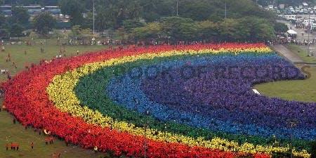 Human Rainbow World Record Attempt