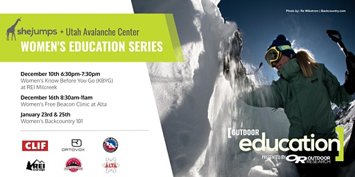 UT SheJumps and Utah Avalanche Center Women's Education Series