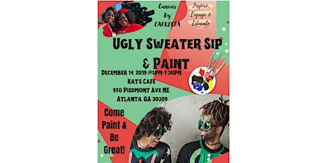 Ugly Christmas Sweater Sip and Paint tickets