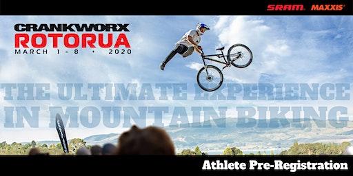 Crankworx Rotorua Athlete Pre-Registration