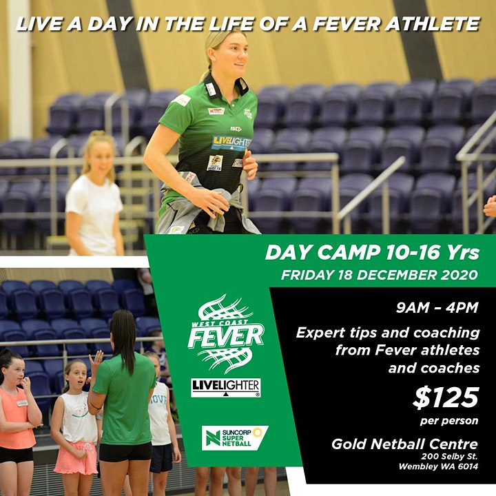 West Cost Fever December Day Camp (TBC due to COVID-19) image